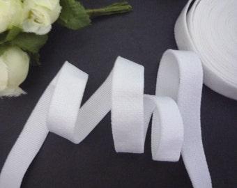 5yds - 50 yds White (1 sided) Plush / Felt Surface Waistband Elastic Band Trim 3/8 inch / 10mm width best for clothing EB40