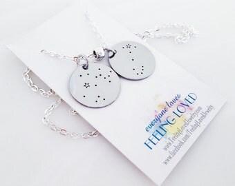 Zodiac Jewelry Necklace - Star Crossed - Aquarius - Pisces - Aries - Taurus - Gemini - Cancer - Leo - Virgo - Libra - Scorpio - Sagittarius