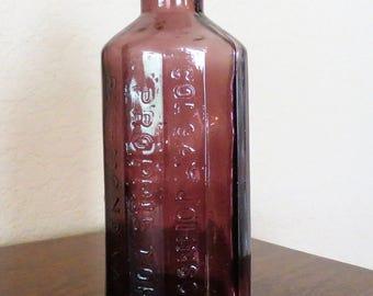 Vintage Jaundice Bitters Bottle, Col Sam Johnson, Alexandria, VA, 1852-free shipping USA