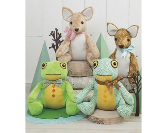 Simplicity Sewing Pattern 8311 Stuffed Deer and Frog