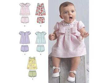Simplicity Sewing Pattern 8346 Babies' Dress and Panties