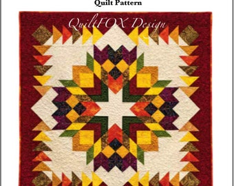 Quilt Pattern - HarvestWreath/ 48 1/2 in. x 48 1/2 in.