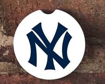 Custom New York Yankees Sandstone Auto Car Cup Coasters (set of2), Absorbent Sandstone Personalized Car Coasters (set of2) Gift Ideas
