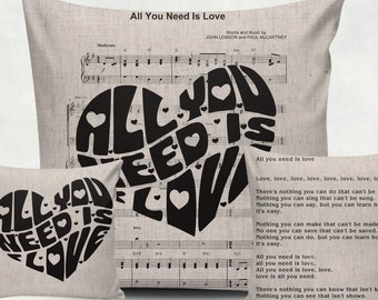 "Digital printing music ""All you need is love"" for Tea Towels, Papercrafts, Transfer, music sheet clipart, burlap, Instant Download N12"