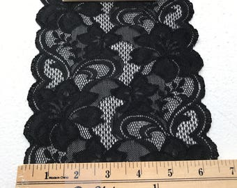 Black Lace Sold by the Yard.