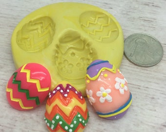 Easter Egg 3 Pc set Silicone Mold