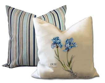 Cushions featuring botanical flower prints