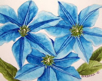 No.  165   Turquoise Clematis