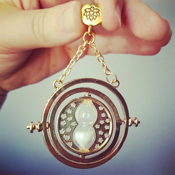 Hermione Timeturner Harry Potter Jewelry Earrings Necklace Keychain Brooch Pin Badge Charm Bracelet Keyring Magnet Bookmark Time Turner