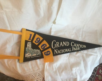 Vintage Grand Canyon Pennant,   1969; Black
