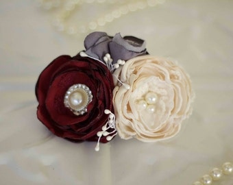 Bridal corsage, Mother of the bride, bridesmaids, flower girl corsage, Debutante