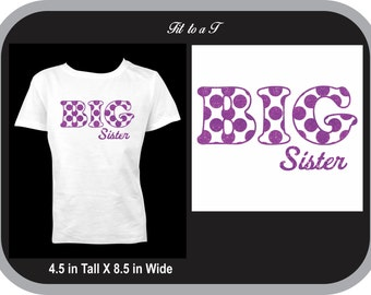 Dotted Sibling Big Sister T-Shirt