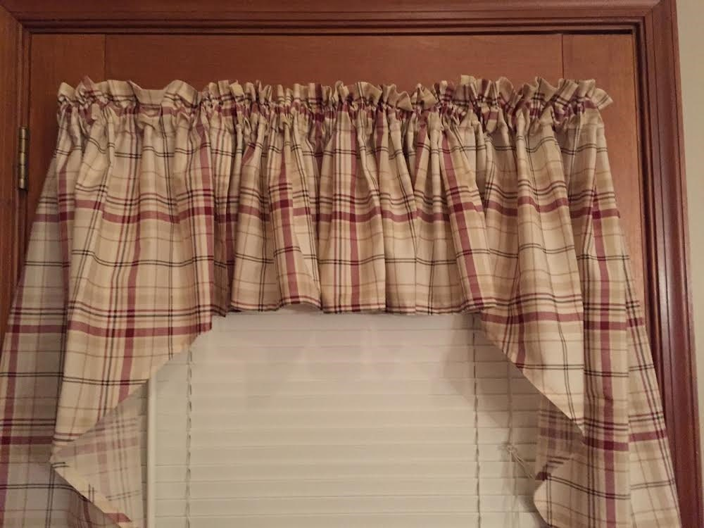 Plaid Swag Curtain 60 Wide 36 Long