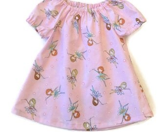 Baby girl dress fairies, pink peasant dress size 3-6 mths, dresses for babies, baby peasant dress, infant dress
