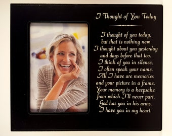I Thought of You memorial frame