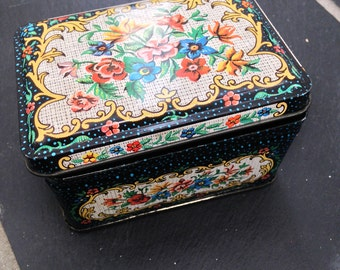 Made in England Floral Square Tin