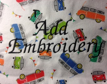 Add embroidery to your items.