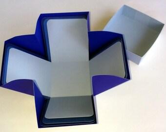 "Explosion Box, 4 The Blues Explosion Box, 4"" Cube Explosion Box"