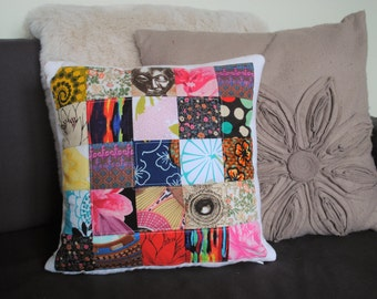 Memory cushion, keepsake cushion, patchwork cushion, grief pillow, made with your OWN memory clothes
