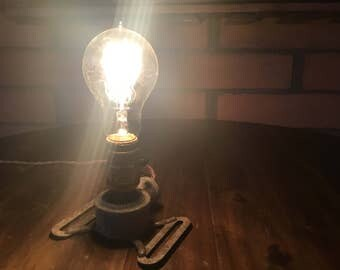 Vintage Metal Galvanized Sprinkler Lamp