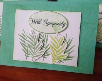 Leaves sympathy card