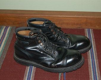 Men Size 13 Vintage Skechers Black Leather Men's Combat Boots