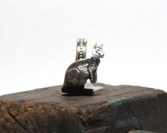 kangaroo ring, australia ring, silver plate ring, spoon ring, kanga ring