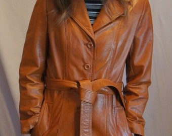 vtg. 70s Leather Jacket Wilson brand sz. 10