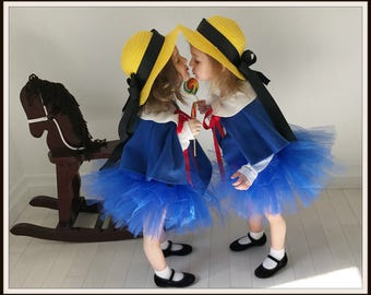Madeline Cape, Hat and tutu, Madeline outfit, Madeline Costume