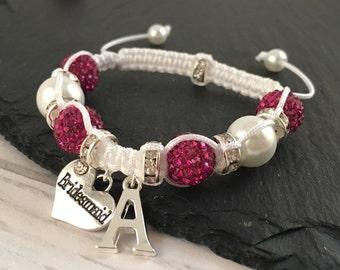 Kids Bridesmaid Bracelet, Personalised Bridesmaid Gift, Flower Girl Bracelet, Personalised Flower Girl Gift, Macramé Jewellery, Wedding Gift
