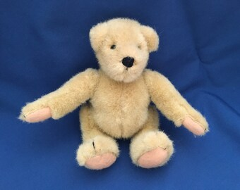 "North American Bear Co, Muffy Vanderbear, Beige Jointed Bear, 7"" Tall Jointed Bear, Buff Bear, Plush Bear, 1982, Jointed Teddy Bear, Teddy"