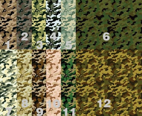 Army Camoflauge, Camo  Adhesive 651 Vinyl, HTV or Glitter HTV. Choice of 3 sizes. 6x6, 6x12 or 12x12. Decals HTV. Military