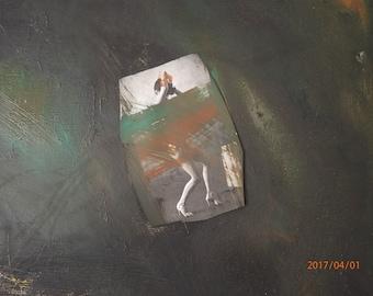 """The """"Precious Dance""""  O/C-Collage  20 x 24 Contemporary, signed Sulander"""