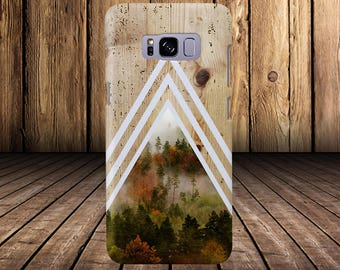 Chevron Dense Forest Tree Bark Wood Case Nature iPhone 7 iPhone 7 Plus Tough iPhone Case Galaxy s8 Samsung Galaxy Edge Handmade CASE ESCAPE