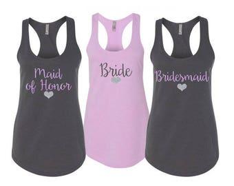 Bridesmaid Shirts, Bridesmaid Tank Tops, Bridesmaid Gift, Wedding Tank Tops, Maid Of Honor Shirt, Bachelorette Party Shirts