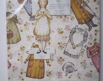 Vintage Holly Hobbie American Greetings Gift Wrap Paper & Tags SEALED