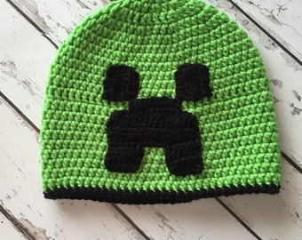 Minecraft Creeper hat, kids hat, video games, birthday gift, christmas gift