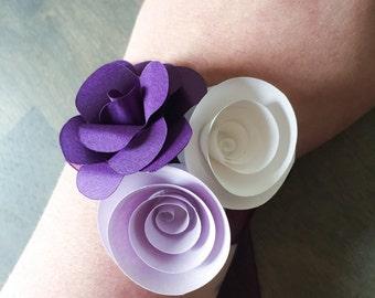 Wrist Corsage - Wedding Corsage - Corsage Wristlet - Corsage Boutonniere - Corsage Bracelet - Paper Flower Corsage - Wedding Bouquet -