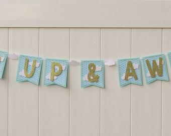 Hot Air Balloon Baby Shower or Birthday Banner