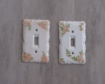 Vintage Light Switch Plates / Cover - two