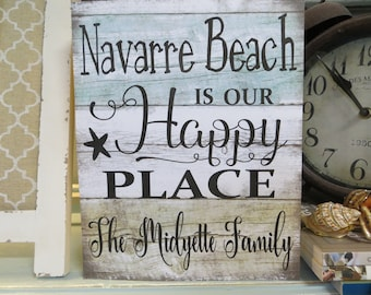 Wood Beach or Lake Sign, Favorite Beach Sign, Favorite Lake Sign, Personalized Beach/Lake Sign, Beach House Decor, Lake House Decor
