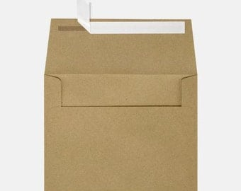 Brown Kraft Envelopes -  5 1/4 x 7 1/4 - Perfect to accompany the 5x7 cardstock pieces - Wedding Invitations - Photography - Photo