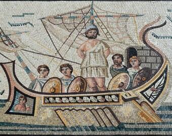 Roman Mosaic of Ulysses Reproduction Artwork