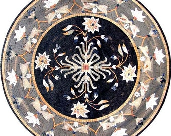 Arabesque Round Flower Mosaic - Leila