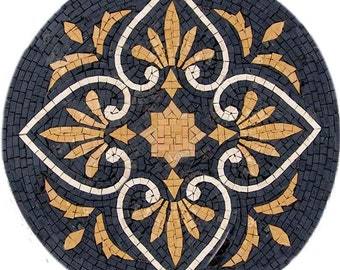 Round Mosaic Wall Tile - Castelle