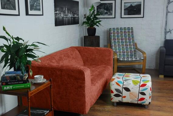 ikea klippan housse luxe burnt orange chenille pour sadapter. Black Bedroom Furniture Sets. Home Design Ideas