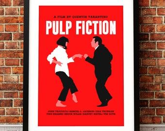 Pulp Fiction poster, Pulp Fiction poster print, film poster print, typographic print, Pulp Fiction, film poster, Quentin Tarantino