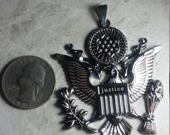 Eagle miltary stainless steel pendant