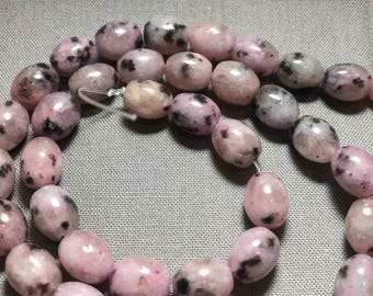 Pink spotted jasper beads