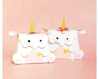 "plotterdatei - mini ""unicorn monster"" gift bag"